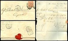 GB QV 1868 fourpence DE a COGNAC LONDRA TWIN 49 Annulla joint stock Banca lettera