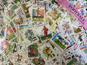 Thematic Stamp Packet -  Football on stamps 100 Difference  + Free Gift