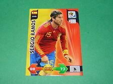 SERGIO RAMOS ESPAÑA  PANINI FOOTBALL FIFA WORLD CUP 2010 CARD ADRENALYN XL