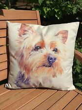"Yorkshire Terrier Puppy Dog 17"" Square Cushion Cover Pillow Case Home Decor Gift"