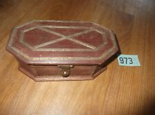 Vintage Wooden Box With Applied Brass Detailing