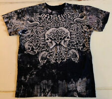 AFFLICTION Fedor vs Barnett Trilogy Skulls Black T-shirt Large