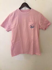 Men's Vineyard Vines Short Sleeve Graphic Pocket T-Shirt Tee Pink Size Small