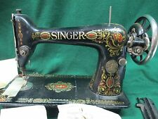 Vintage Singer Model 66 Red Eye 1914 year Sewing Machine G3885901 #1643/P5
