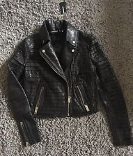 Diesel Lamb Leather Woman Biker Jacket Size S £RRP£645