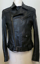 DOLCE & GABBANA D&G BLACK LEATHER JACKET *SPECTACULAR* Made in ITALY
