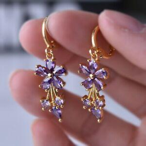 Pretty Women 925 Silver Jewelry White Sapphire Jewelry Drop Earrings A Pair/set