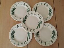 5 WOOD & SONS ENGLAND GREEN THE KITCHEN GARDEN SALAD DAYS PLATES PLATE  WOOD and