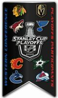 2020 NHL WESTERN CONFERENCE PIN PLAYOFF PARTICIPANT STANLEY CUP FIRST 1ST ROUND