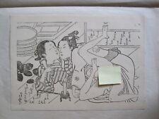VINTAGE JAPANESE SHUNGA WOODBLOCK PRINT~EROTIC ART~REPRODUCTION~CIRCA 1960'S~#4