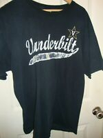 VANDERBILT Commodores University T Shirt Black  (PICK ONE)* Size XL Unisex   207