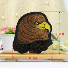 Embroidered  Sew Iron on Patch Badge Born to Ride Motorcycle Eagle Applique DIY