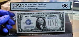 Fr.1602 $1 1928 B Funny Back Silver Certificate PMG GEM 66 EPQ
