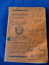 A RARE VINTAGE C FARLOW & CO ADVERTISING FISHING CATALOGUE 1913