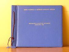 g117 Romania 1966 National Bank Specimen set original presentation book