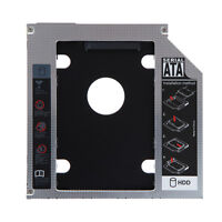SATA 2nd HDD SSD Caddy Adapter for Laptop 9.5mm Optical Hard Drive Bay Universal