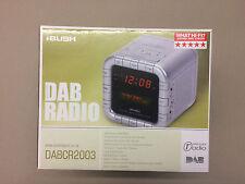 Bush DAB Digital Audio Radio Stereo Alarm Clock New DABCR2003