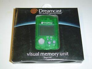 VMU MEMORY CARD SEGA DREAMCAST ORIGINAL GREEN *BRAND NEW*