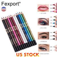 12 Colors Waterproof Pencil Lipstick Pen Matte Lip Liner Long Lasting Makeup
