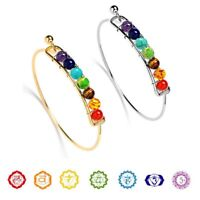 7 Chakra Healing Bracelet Yoga Reiki Stone Balance Beaded Braided Bangle Jewelry