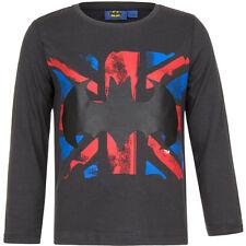 NUEVO Camisa Niños Camiseta Batman Jersey Azul Gris Marrón 98 104 116 128 #95