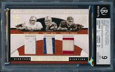 2007 National Treasures BARRY SANDERS / EMMITT SMITH / THOMAS Prime /25 *BGS 9*