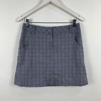 Cutter and Buck Womens Skort Skirt/Shorts Size AU 8 Plaid Grey Purple
