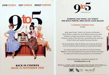 9 TO 5 FILM MOVIE POSTCARDS X 2 - DOLLY PARTON LILY TOMLIN JANE FONDA