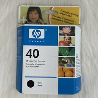 GENUINE HP INKJET 40 BLACK CARTRIDGE 230,250C 330 455ca 450C 488ca -Expired 2005