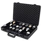 Watch Case 24 Watches Collectors Briefcase Aluminum black ALBX24BK Tech Swiss