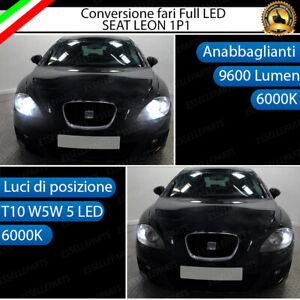 CONVERSIONE FARO FULL LED SEAT LEON MK2 1P1 ANABBAGLIANTI + LUCI POSIZIONE 6000K