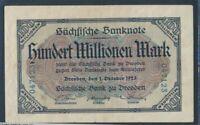 Saxony Rosenbg SAX21 Saxony used (III) 1923 100 million. Mark (8087350