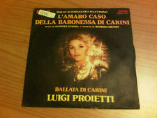 """7"""" 45 GIRI L'AMARO CASO DELLA BARONESSA DI CARINI TBBO1184 VG+/EX- ITALY '75 DST"""
