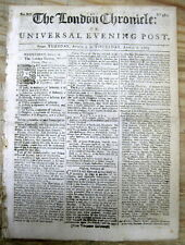 1763 newspaper SCOTCH-IRISH emigration to SOUTH & NORTH CAROLINA from IRELAND