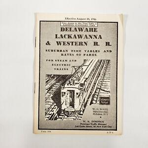1946 Delaware Lackawanna & Western Railroad Suburban Timetable Time Table