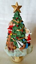 Nighlight Resin santa decorates tree Delivers Sailboat Teddy by Albert & Price