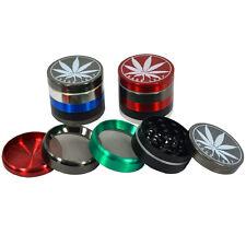Tobacco CNC Spice 5 Part 50mm Magnetic Leaf Design Extra Storage Herbs Grinder