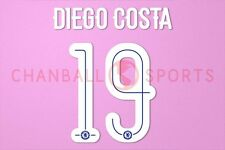 Diego Costa #19 2015-2016 Chelsea UEFA Champions League Homekit Nameset Printing