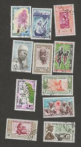 Dahomey Small Collection, Lot #21i22 CTO