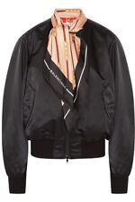Balenciaga Black Bomber Jacket With Silk Scarf M-L