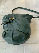 Vtg. Genuine Pigskin Leather Bucket Shoulder Handbag-1970's -Beautiful Color
