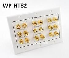 3-Gang 8.2 Surround Sound Distribution Audio Wall Plate w/ 2-RCA, WP-HT82