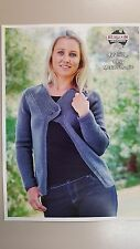 9a8bf18e3446d Heirloom Knitting Pattern  422 to Knit Ladies Cardigan in 8 Ply Yarn