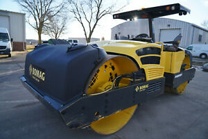 2013 BOMAG BW284AD 84'' VIBRATORY ROLLER, ONLY 553 HRS, TIER 3, WATER SYSTEM