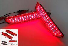 Red Lens Rear Bumper Reflector LED Brake Light DRL Toyota Avensis Alphard Estima