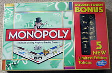 NIB sealed Monopoly Golden Token Bonus Game • limited edition  5 NEW TOKENS!!!