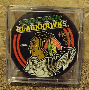 TONY ESPOSITO HOF AUTOGRAPHE AUTO SIGNED on NHL HOCKEY PUCK Chicago Blackhawks