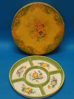ANTIQUE 1920's NORITAKE HAND PAINTED CONDIMENT PLATTER with WOOD BOX