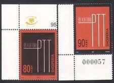 ALBANIE 2007 HISTOIRE POSTALE/PTT Emblème/Post Office/Design 2 V Set (n35382)