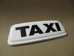"""Taxi Roof Sign Magnetic Top sign 24"""" White LED lights Lettercraft SUPER ECONOMY"""